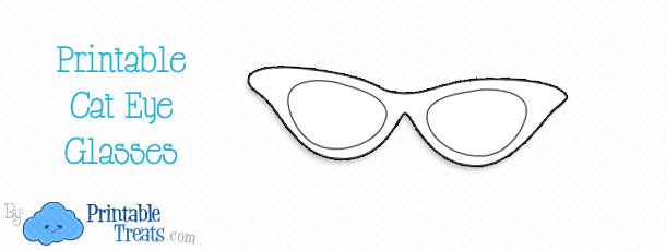 image regarding Printable Sunglasses identified as Printable Cat Eye Gles Printable