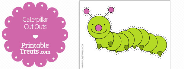 graphic about Caterpillar Printable known as Printable Caterpillar Lower Outs Printable