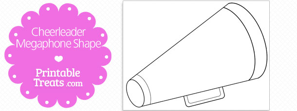 photograph relating to Printable Megaphone Template titled Printable Cheerleader Megaphone Form Printable