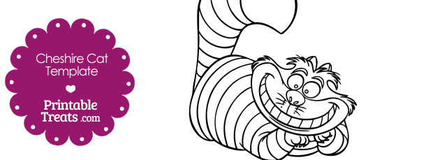 graphic relating to Cat Stencil Printable referred to as Printable Cheshire Cat Template Printable