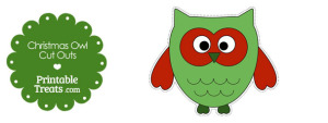 Printable Christmas Owl Cut Outs