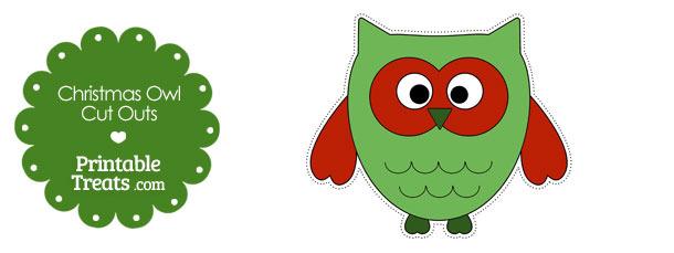 Printable Christmas Owl Cut Outs