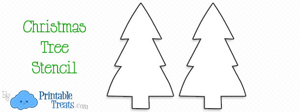 printable christmas tree stencil