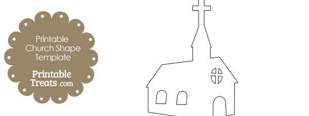 printable church shape template  u2014 printable treats com