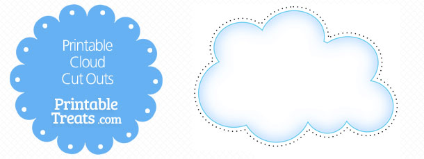 photo regarding Printable Clouds called Printable Cloud Slash Outs Printable
