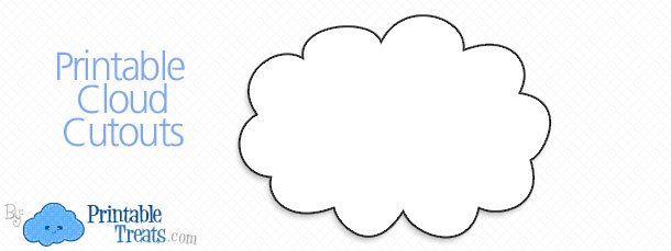 picture regarding Printable Clouds called Printable Cloud Cutouts Printable