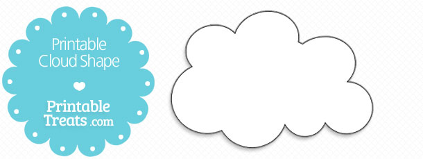 graphic about Printable Cloud named Printable Cloud Form Printable