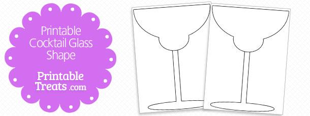 Free Printable Cocktail Glass Shape Template