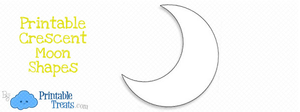 printable crescent moon template printable treats com