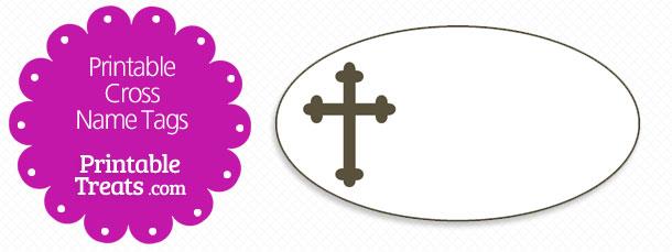 Printable Cross Name Tags