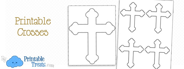 picture about Free Printable Cross known as Cost-free Printable Christian Crosses Printable