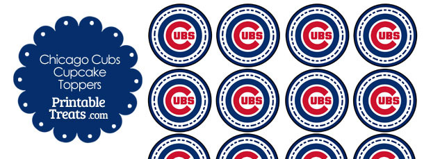 image regarding Printable Chicago Cubs Logo named Printable Cubs Emblem Cupcake Toppers Printable