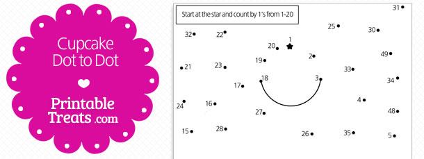 free-printable-cupcake-dot-to-dot