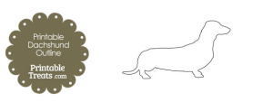Printable Dachshund Outline Template