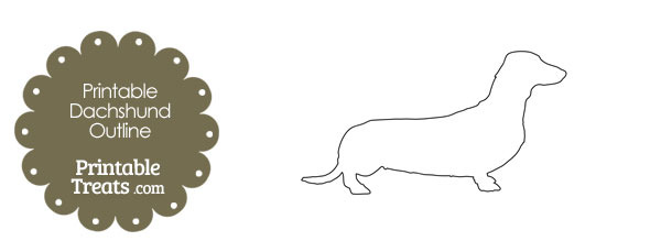 Printable Dachshund Outline Template — Printable Treats.Com