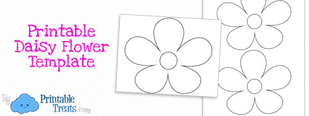 Printable Daisy Flower Template — Printable Treats.com