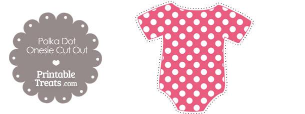 Printable Dark Pink Polka Dot Onesie Cut Outs — Printable ...