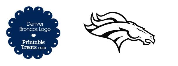 Printable Denver Broncos Logo Template — Printable Treats.com