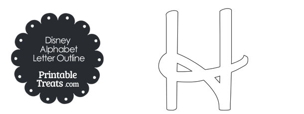 printable disney letter h outline  u2014 printable treats com