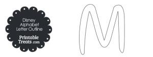 Printable Disney Letter M Outline