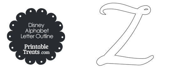 Printable disney letter z outline printable treats printable disney letter z outline spiritdancerdesigns Image collections