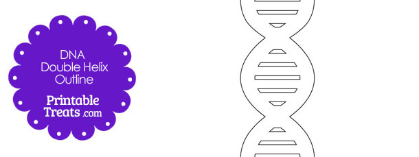 Dna Template | Printable Dna Helix Template Printable Treats Com