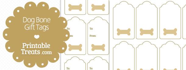 printable dog bone gift tags  u2014 printable treats com