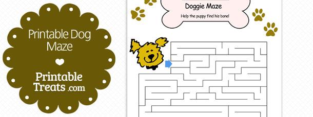 free printable dog maze