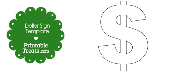 Printable Dollar Sign Shape Template — Printable Treats.com