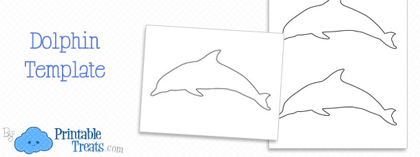 printable dolphin template  u2014 printable treats com