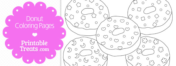 Printable Donut Coloring Pages Printable Treats Com