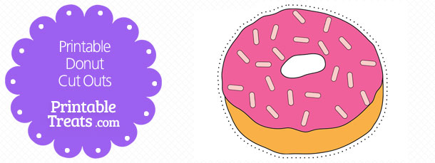 photograph relating to Donut Printable titled Printable Donut Reduce Outs Printable