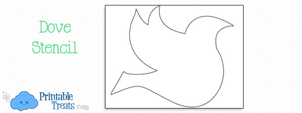 free printable dove stencil printable treats com