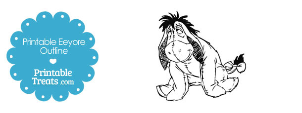 Printable Eeyore Outline