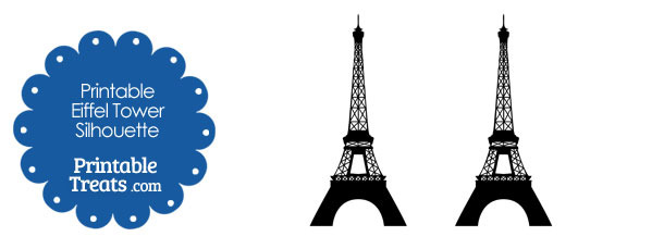graphic about Printable Eiffel Tower known as Printable Eiffel Tower Silhouette Printable