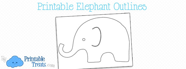 image relating to Elephant Outline Printable titled Printable Elephant Define Printable