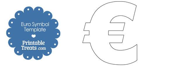 Printable Euro Symbol Shape