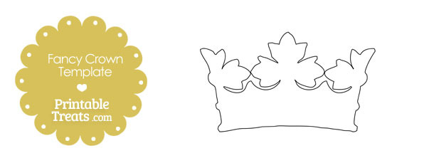 Printable Fancy Crown Template — Printable Treats.Com