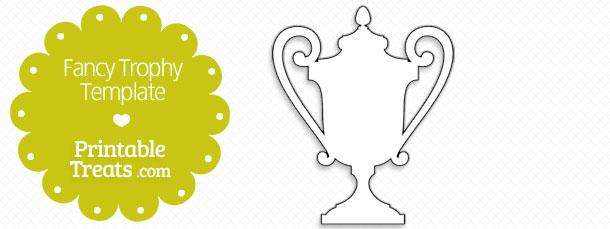 printable fancy trophy template printable treats com