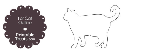 Printable Fat Cat Outline