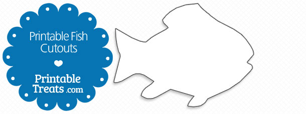 picture relating to Fish Cutouts Free Printable called Printable Fish Cutouts Printable