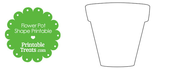 Printable Flower Pot Shape — Printable Treats.com