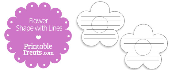 free-printable-flower-shape-with-lines