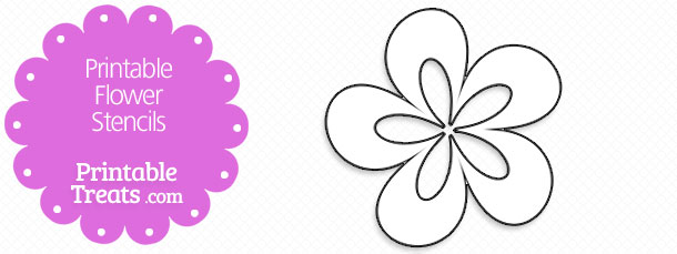 image relating to Flower Stencil Printable identified as Printable Flower Stencils Printable
