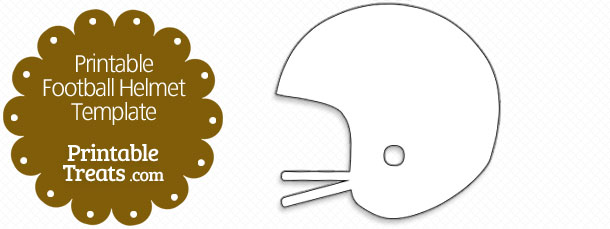 free printable football helmet template
