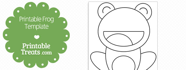photograph regarding Frog Template Printable titled Printable Frog Template Printable