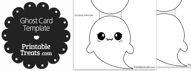printable ghost card template printable treats com