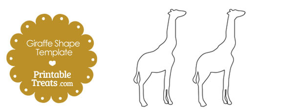 Printable Giraffe Shape Template — Printable Treats.com