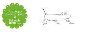 Printable Grasshopper Shape Template