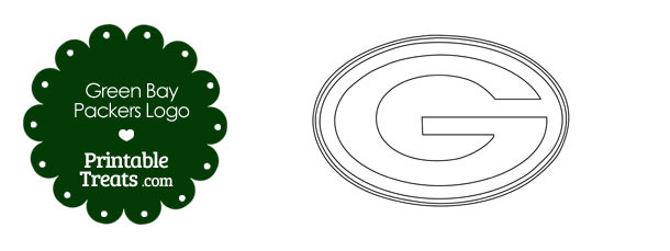 printable green bay packers logo template